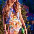 Çiçek Desenli Elbise Modelleri ve Kombinleri 2018-2019