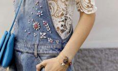 İlkbahar-Yaz Güpür (Dantel) Transparan Elbise Kombinleri