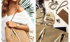 Bahar aylarında hasır çanta modası