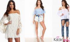 2018-2019 Kayık Yaka Bluz ve Elbise Modelleri