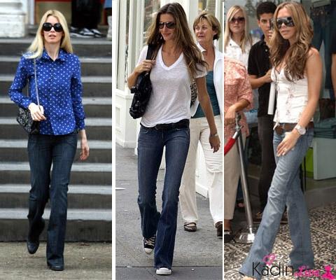 Sokak Modası İspanyol Bol Paça Pantolon Kombinleri