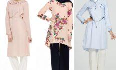 2018-2019 İlkbahar Yaz: Tuğba Tesettür Yazlık Tunik Modelleri