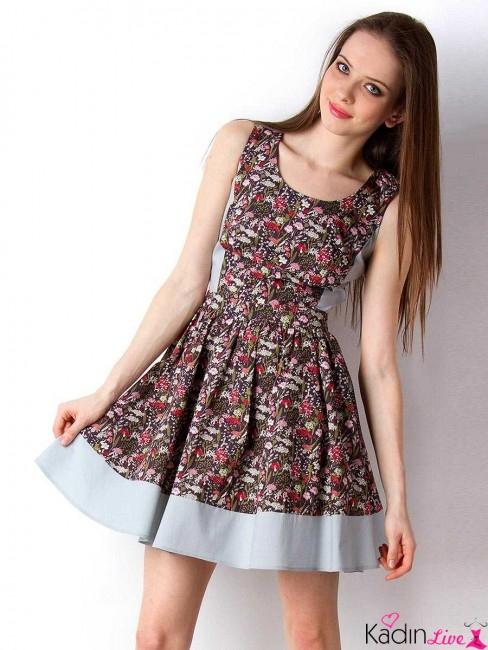 4555355ecbc5f Etnik Desenli Fırfırlı Yazlık Kısa Elbise Modelleri - Kadinlive.com