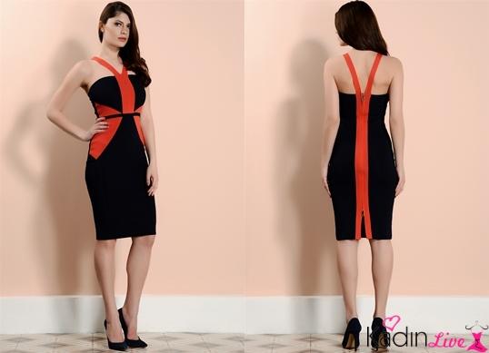 Siyah Kırmızı adL Cengiz Abazoğlu Elbise Modelleri