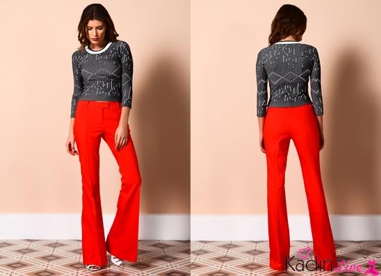 Kırmızı Pantolon adL Cengiz Abazoğlu Kıyafet Tasarımları