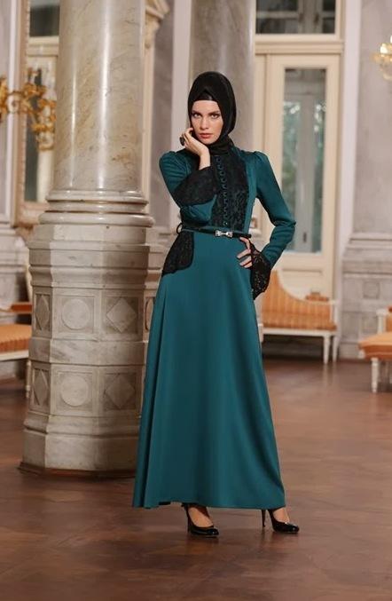 d2d1a516a58e0 Avenna Tesettür Abiye Elbise Modelleri 2018-2019 - Kadinlive.com