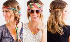 Baharın renklerini yansıtan saç bantları