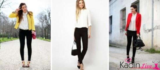 Siyah Pantolon, Beyaz Gömlek Kombinleri