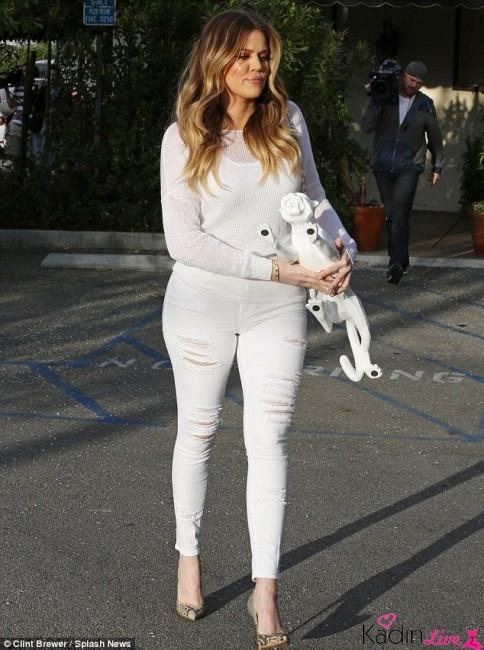 Sonbahar Beyaz Kot Pantolon Kombinleri