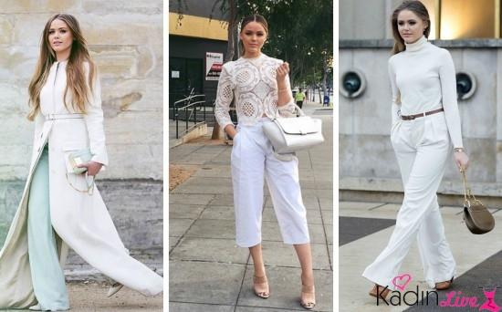 Beyaz Kıyafet Kombinasyonları