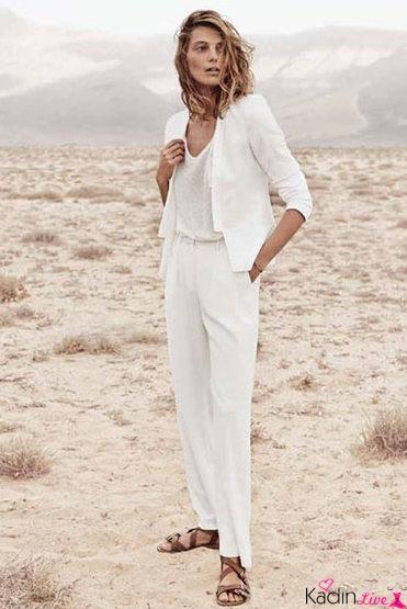 Beyaz Takım Elbise, Bluz Kombinleri