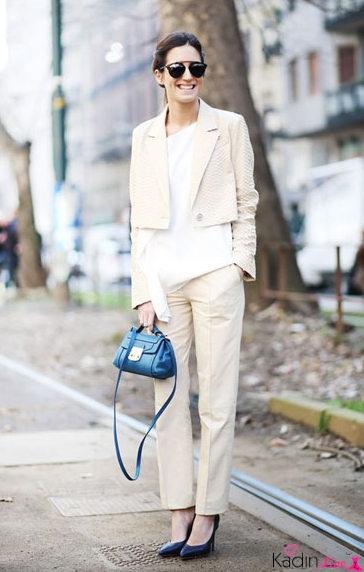Beyaz Kıyafet Sokak Stili Kombinler