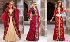 Kırmızı Bindallı (Kaftan) Kına Elbisesi Modelleri 2018-2019