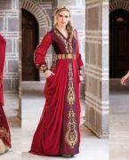 Kırmızı Bindallı Kına Elbisesi Modelleri