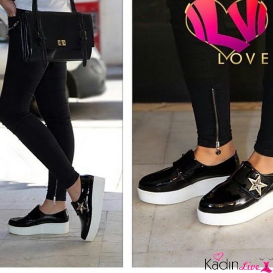 Siyah Parlak Glamour Ayakkabı Modelleri