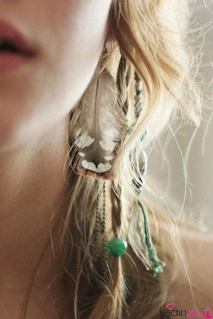 Saç Rengine Göre Boncuklu Saç Tüyleri