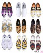 Slip-on Sneakers Spor Ayakkabı Kombinleri