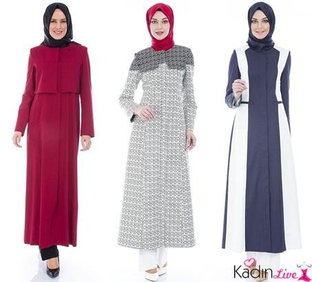 495a353d2add5 2018-2019 İlkbahar Yaz: Tekbir Giyim Yazlık Tesettür Pardesü Modelleri