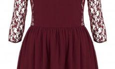 Şarap Rengi Abiye Elbise Modelleri 2018-2019