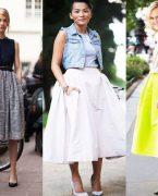 İlkbahar Yaz Modası: Kloş Etek Modelleri ve Kombinleri 2018-2019