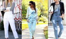 2018-2019 İlkbahar Yaz Jean (Kot) Tulum Modelleri ve Kombinleri