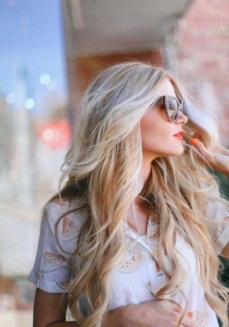 Dipleri Küllü Kumral Uçları Sarı Saç Rengi Kadinlivecom