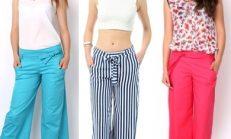 Kuşaklı bol paça pantolon modelleri