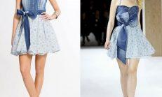 Jean yazlık elbise modelleri