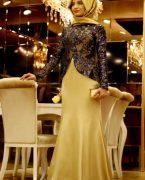 Pınar Şems Tesettür Abiye Elbise Modelleri 2018-2019