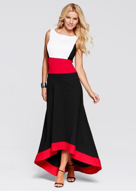 Iki Renkli Uzun Elbise Modelleri çift Renkli Askılı Uzun Elbise