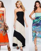 Askısız en şık elbise modelleri