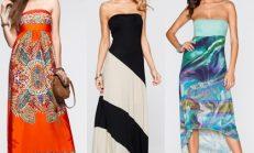Yaz Trendleri: Straplez Elbise Modelleri 2018-2019