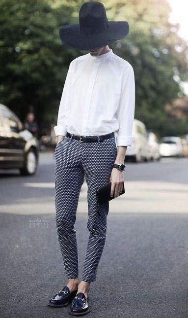 Beyaz gömlek skinny pantolon kombini