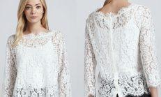 Yazlık en şık dantel bluz modelleri