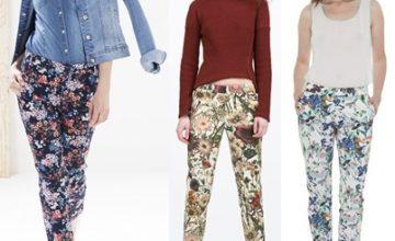 Desenli Pantolon Modelleri ve Kombinleri 2018-2019