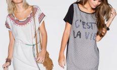 Kısa kollu yazlık elbise modelleri