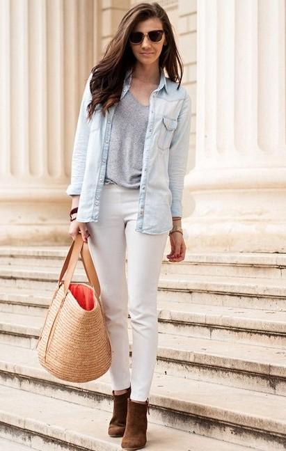 Moda trendi hasır çantalar