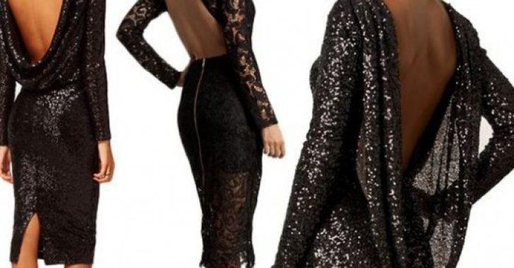 2019 Sırt Dekolteli Elbise Modelleri