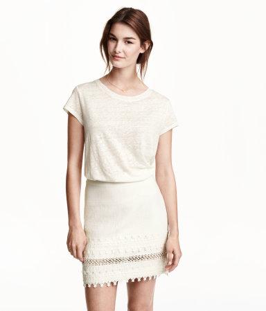 H&M dantelli kısa etek modelleri