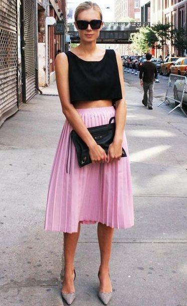 Sokak modası pileli etekler