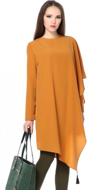 Tozlu gizli kollu salaş hamile elbise modelleri
