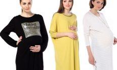 Tozlu giyim şık hamile elbise modelleri
