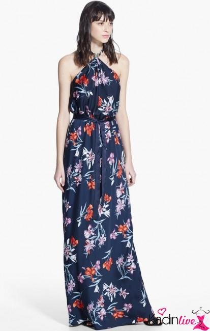 9b0c0e60c8fba Yazlık Çiçek Desenli Uzun Elbise Modelleri - Kadinlive.com