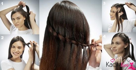 Şelale saç modeli yapımı