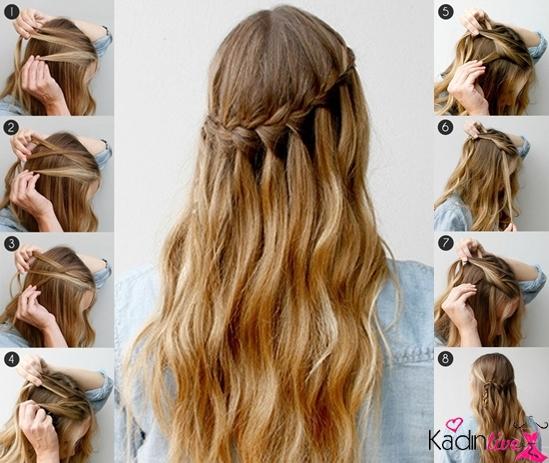 Şelale saç modelleri nasıl yapılır