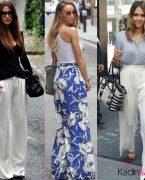 2018-2019 Yaz Modası: Palazzo Geniş Bol Kumaş Pantolon Kombinleri