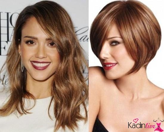 Geniş Alınlı Kadınlar İçin Saç Modelleri
