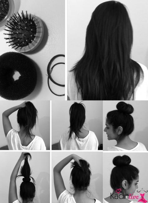 dağınık topuz saç modelleri yapılışı