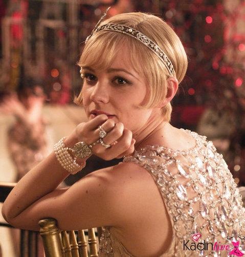 Yılbaşı gecesi gatsby parti ruhu saçlar