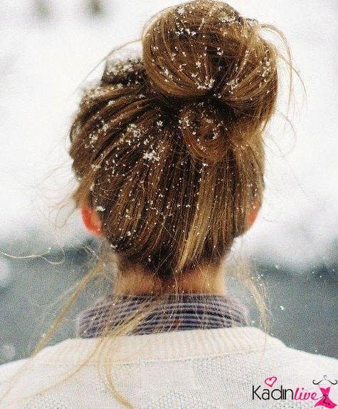 Yılbaşı için kar tanesi saç aksesuarları